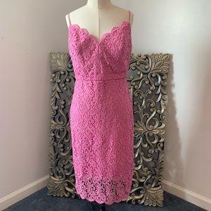 J Crew Guipure Lace Dress, flamingo, NWT